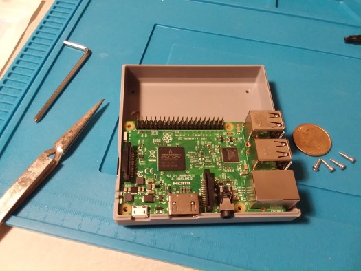 Putting the Raspberry Pi 3 in the case