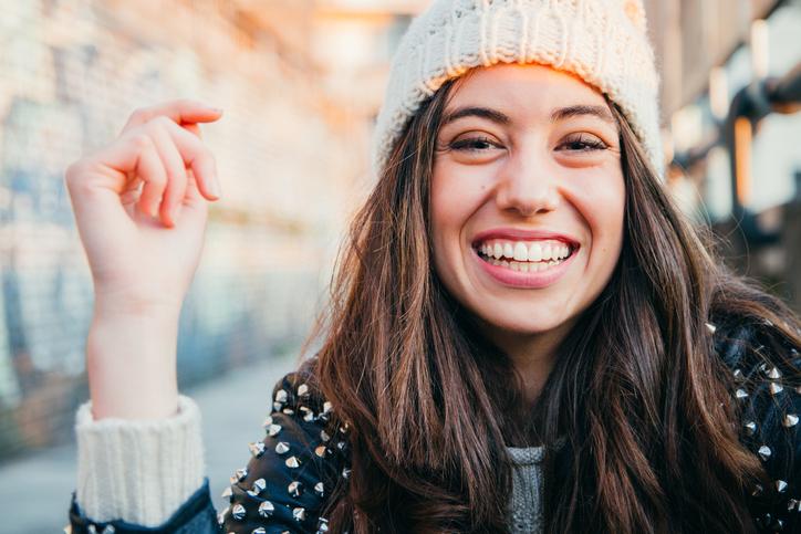 Ein strahlendes Lächeln