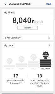 Samsung Rewards with Samsung Pay