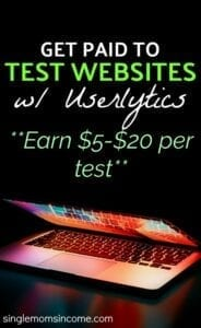 Looking for a fun and easy way to make a little extra money? Learn how to get paid to test websites with Userlytics. Earn up to $20 per test. #sidehustle #workathome