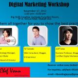 Digital Marketing Workshop this November 17, 2012