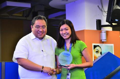Mr. Ramon Villacorta with Employee of the Year awardee