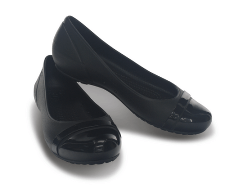 Crocs Cap Toe Flat - Black