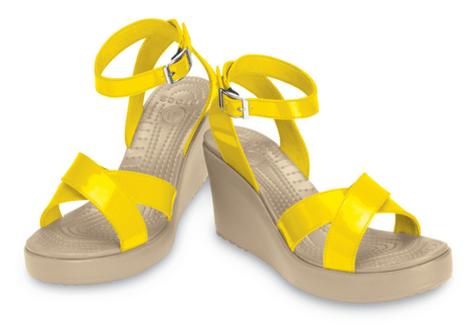 Crocs Rio Wedge - Yellow