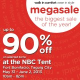 Crocs MegaSale 2013 at NBC Tent