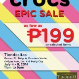 Crocs Epic Sale in Tiendesitas this rainy season