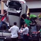 Car fell from Greenhills Car Park