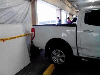 Car fell Greenhills carpark inside 5