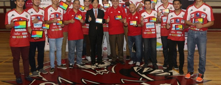 San Beda Red Lions with LG G Pads