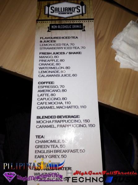 Sallianos Restaurant Menu f