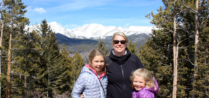 Me and girls in Rocky Mountain National Park
