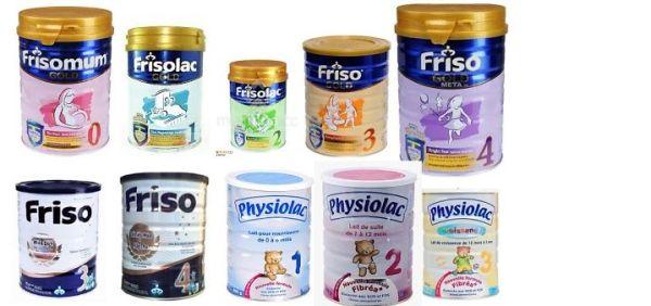 Sản phẩm sữa Friso cho bé