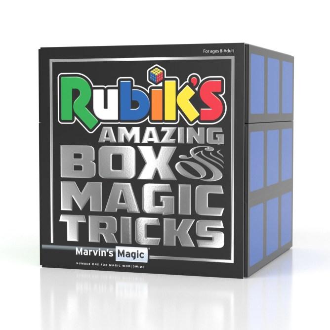 Box that says Rubiks amazing box of magic tricks