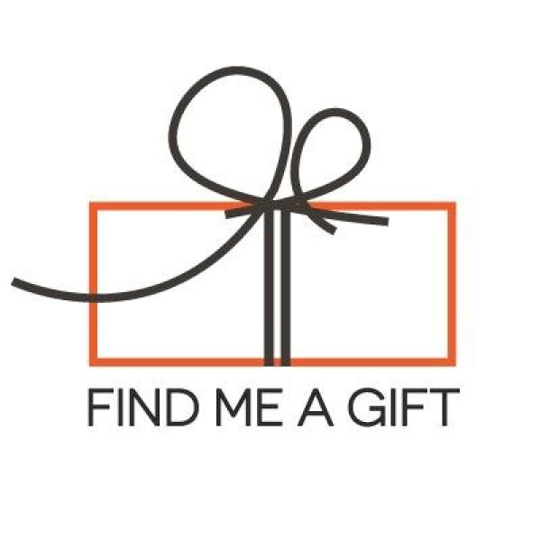 Find Me A Gift company logo which is a gift box and the words Find Me A Gift