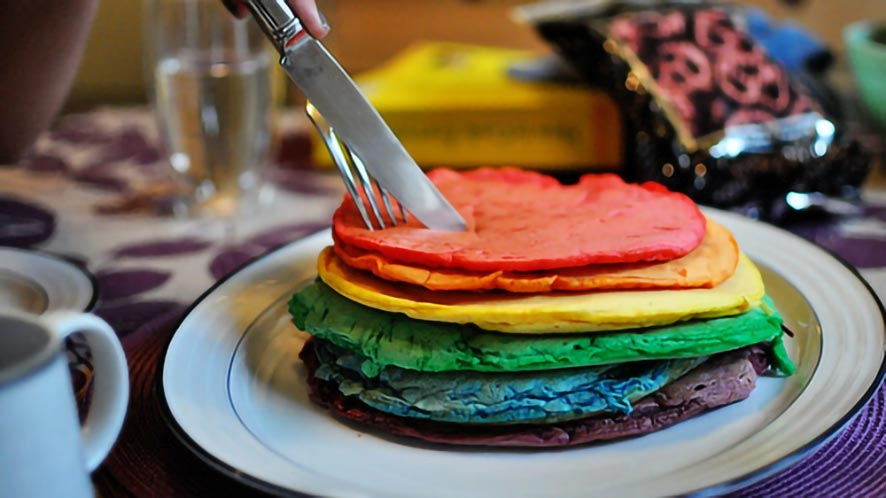 How To Make Pancakes Colorful