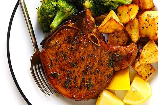 Recipes with pork chops . Baked pork chops