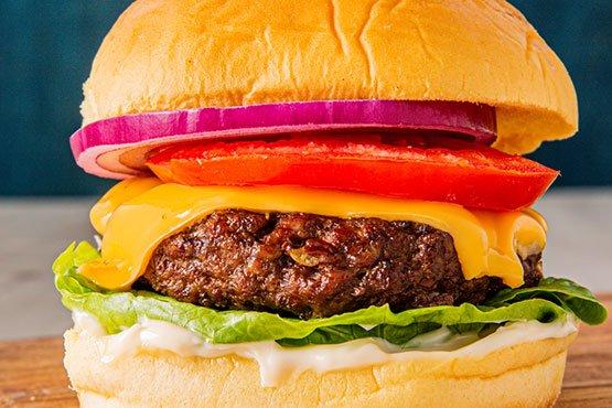 Air Fryer Cheeseburger