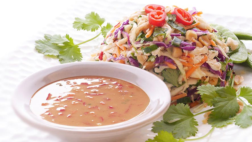 Easy Chopped Thai Chicken Slaw Recipe