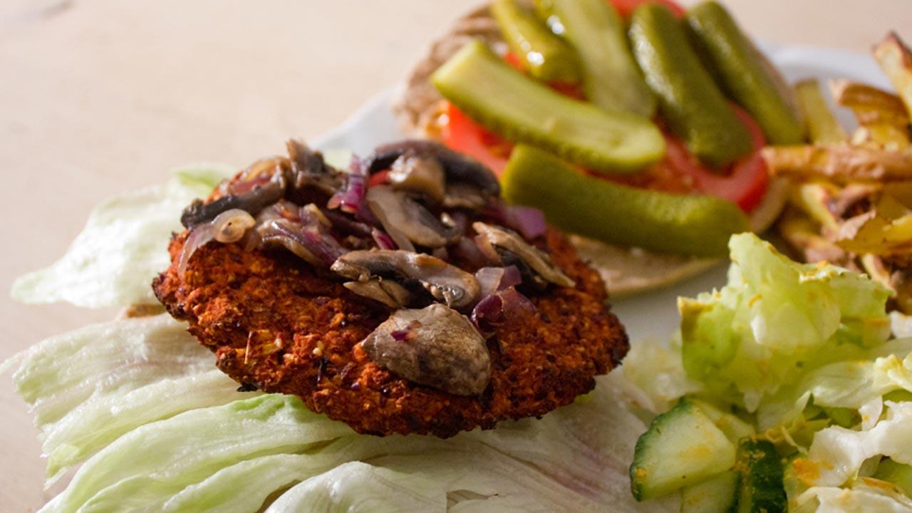 Low-Fat Vegan Burgers Recipe