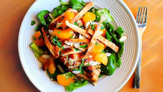 Chicken Salad with oranges and sesame seeds