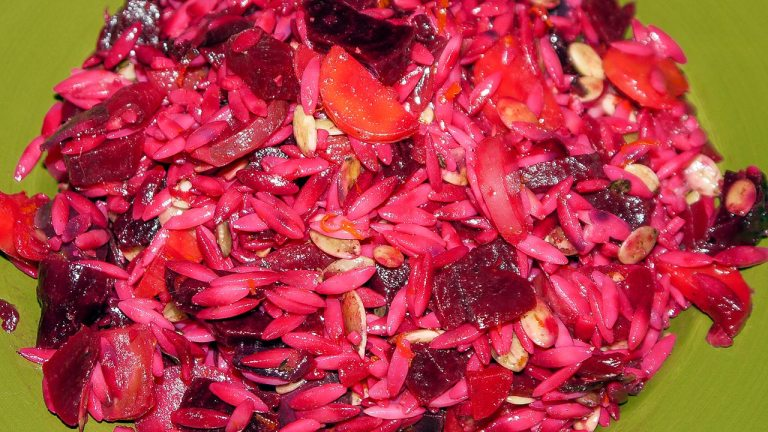 Beet, Carrot and Orzo Salad With Orange Dressing