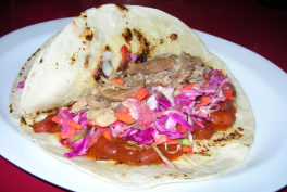 It's delicious wth some pulled pork and chili beans on a burrito.