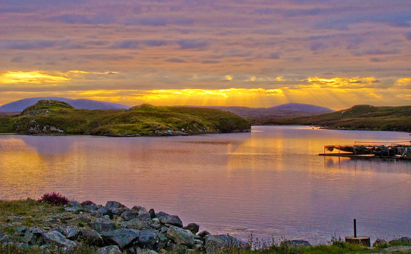 Hebrides Sunset Loch: click image for larger views at SmugMug