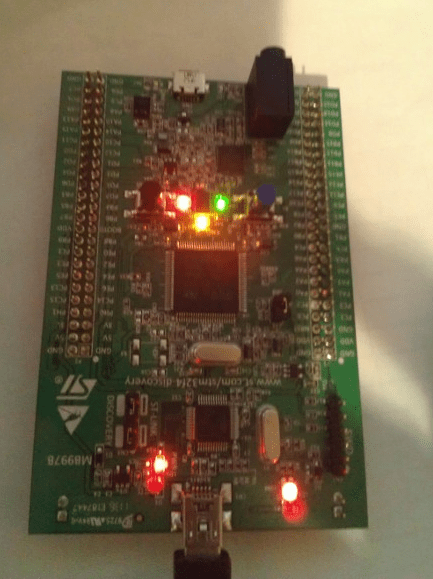 STM32F Connected with Micro USB
