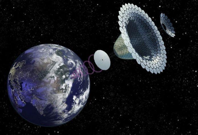 Kredit Gambar: Konsep SPS-ALPHA NASA oleh John C. Mankins