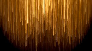 tech stories glowing golden lines light on dark background