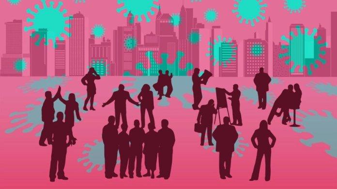 people coronavirus vaccine pink green