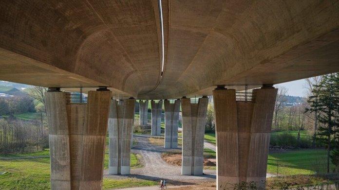 concrete bridge highway road