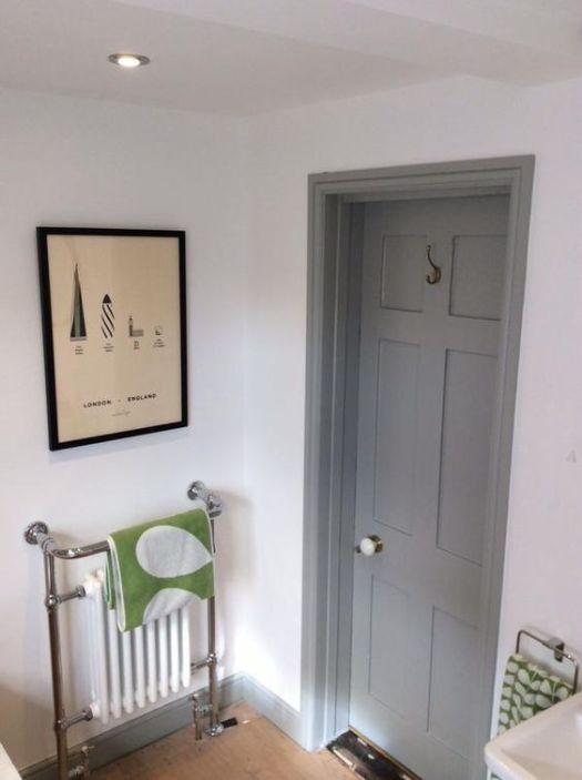 White walls grey woodwork