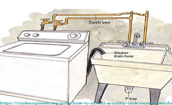 to install a utility sink next to washer