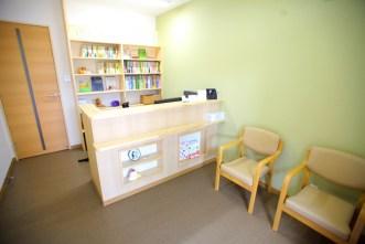 鍼灸院かざみどりの待合室