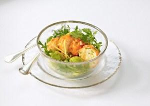 Exotic spiny lobster salad