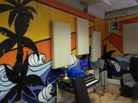 Commission for Prince Fatty.Depiction of Hollie Cook's album artwork for the walls of the Ironworks studios, Brighton.