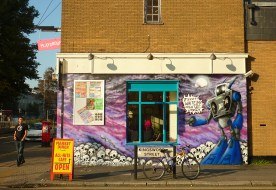 The First mural for the Blind Tiger.