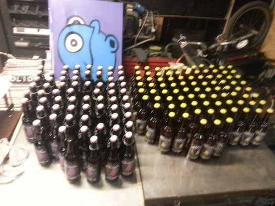 This is just the bottled Sid brew. Darkside and Bright side was on offer. It was also on tap and then there were a couple of pallets of Budvar too.