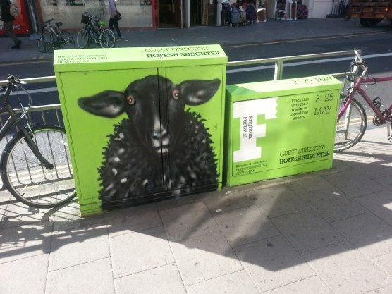 Brighton Festival boxes. Sheep by Req on this image. Feb/March 2014
