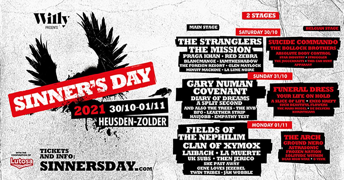 Cancellation statements Sinner's Day bands