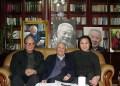 人民日報前社長胡績偉(中) 與高瑜(右)姚監復(左)。9月16日心肌梗塞病逝北京,死前遺願為平反「六四」。(2010年拍攝,高瑜提供)
