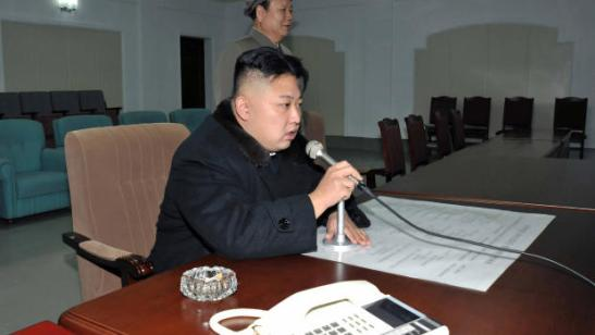 Kim Jong-un In Command of Communications, December 12, 2012. Via CBS News.