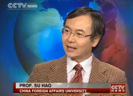 Su Hao, Professor at China's Foreign Affairs University offers comments during an unrelated interview.