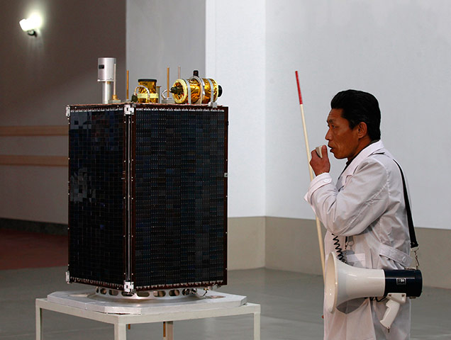The North Korean satellite that sank without trace upon launch last April | image via Wodu Media