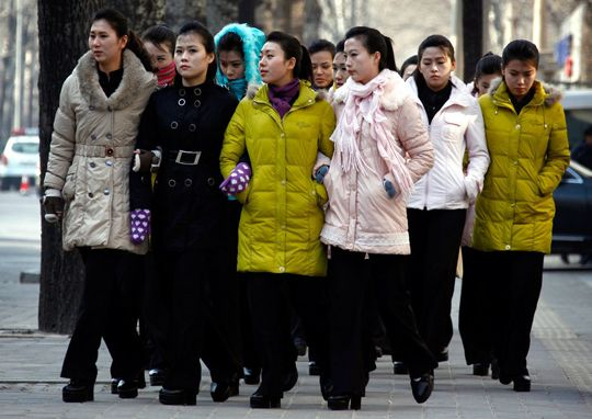 North Korean Women; image via JoongAng Ilbo