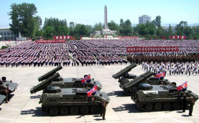 The Korean Children's Union donated multiple launch rocket systems, on view at a parade in Hamheung, South Hamgyeong Province, on June 1, 2013. | Source: Rodong Sinmun