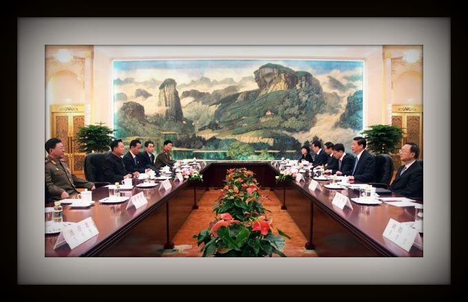 Chinese and North Korean officials meet in May 2013   Original image: Rodong Sinmun
