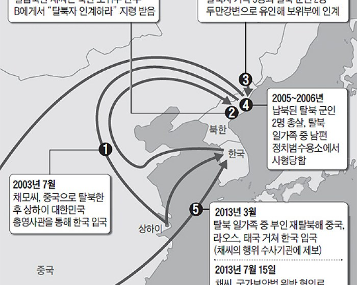 The saga of Chae mapped across Northeast Asia | Image: Chosun Daily