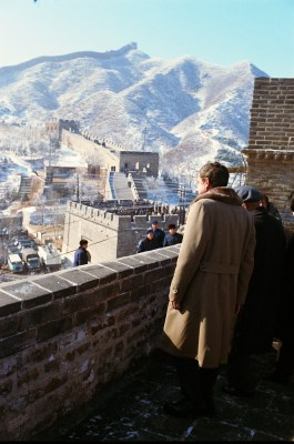 Richard Nixon at the Great Wall, February 1972 | Image courtesy Nixon Presidential Library